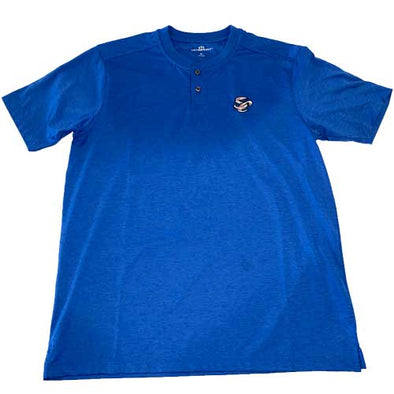 Omaha Storm Chasers Men's Vantage Royal No Collar Polo