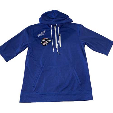 Omaha Storm Chasers Men's Rawlings Royal 3/4 Sleeve Hoodie