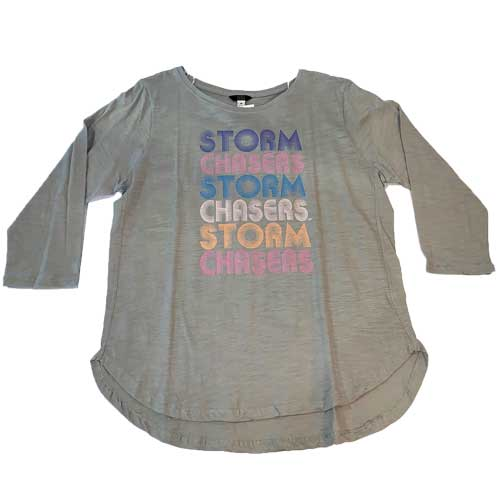 Omaha Storm Chasers Women's MV Grey 3/4 Sleeve Tee