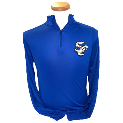 Omaha Storm Chasers Men's Augusta Royal Attain 1/4 Zip Pullover