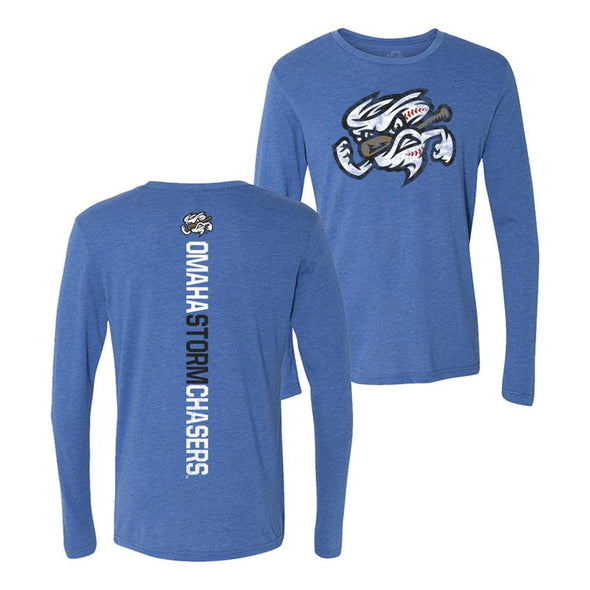 Omaha Storm Chasers Men's 108 Royal L/S Razor Back Tee