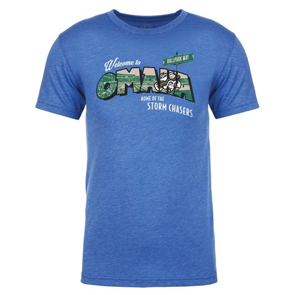 Omaha Storm Chasers Men's 108 Royal Postcard Tee