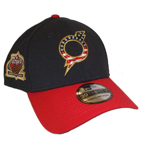 Omaha Storm Chasers New Era 39Thirty Stars and Stripes O Bolt Hat
