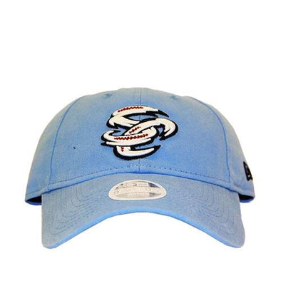 Omaha Storm Chasers Women's New Era 9Twenty Preferred Pick Lt Blue Cap