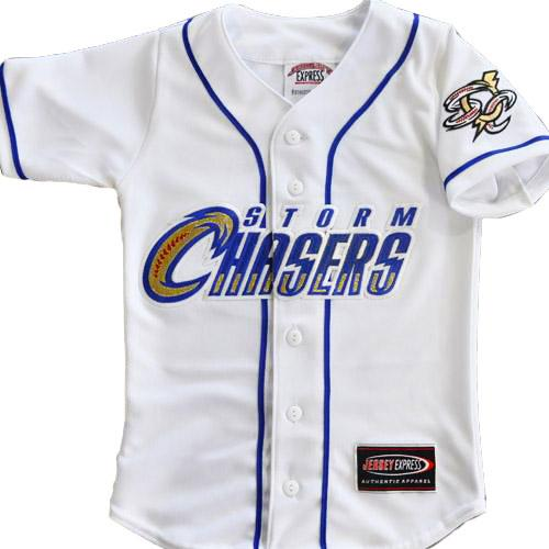 Omaha Storm Chasers Replica Youth White HOME Jersey