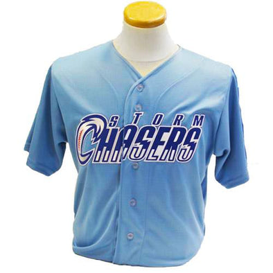 Omaha Storm Chasers Replica Youth Powder Blue Alternate Jersey