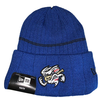 Omaha Storm Chasers Youth New Era Royal Vortex Winter Hat
