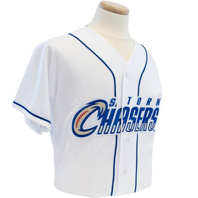 Omaha Storm Chasers Replica White HOME Jersey