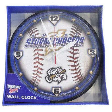 Omaha Storm Chasers Wall Clock