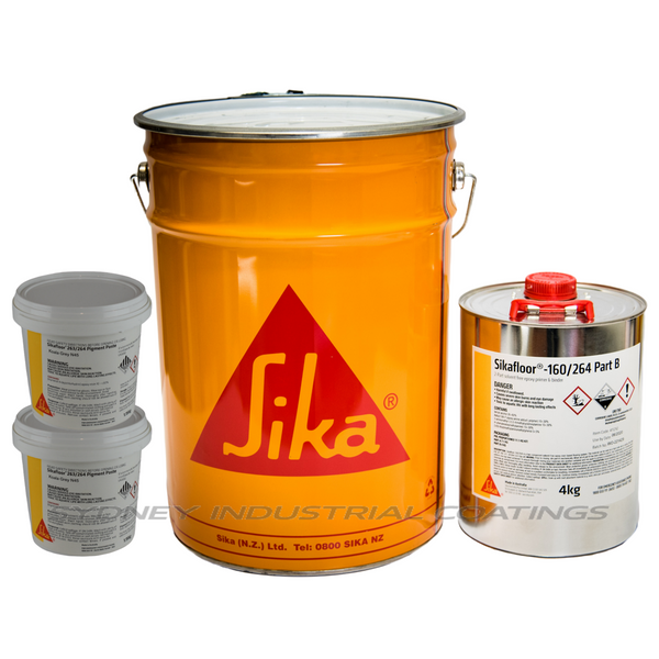 Sikafloor 264 full 20kg kit | including 2x 1.15kg pigment packs