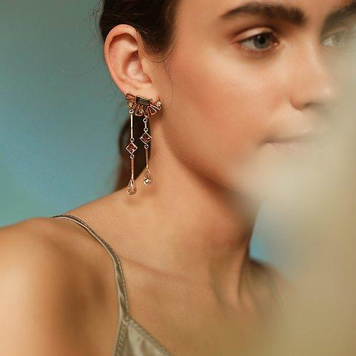 Delicate Dangle earrings- The Jewel Jar