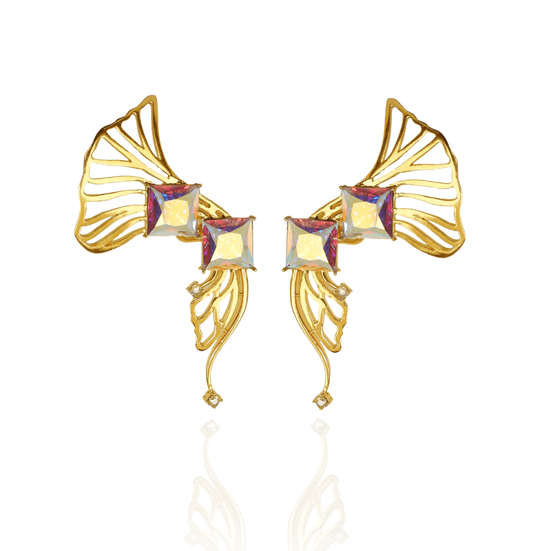 Statement Ear cuffs gold- The Jewel Jar