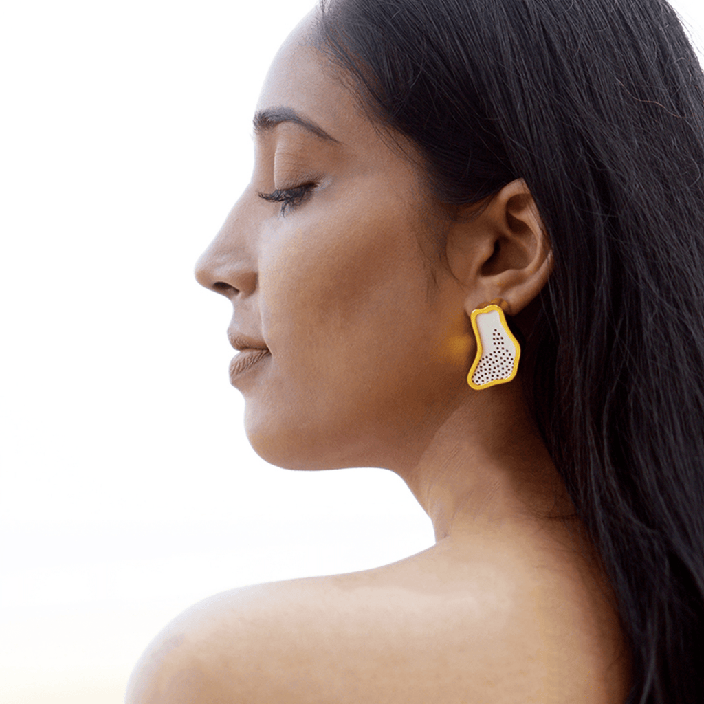 Asymmetric Wooden Earrings