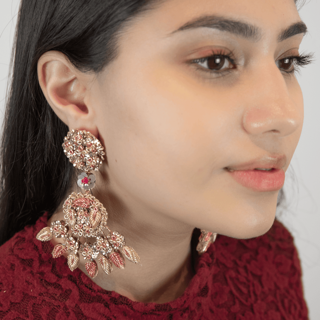 Floral & Leaf Earrings