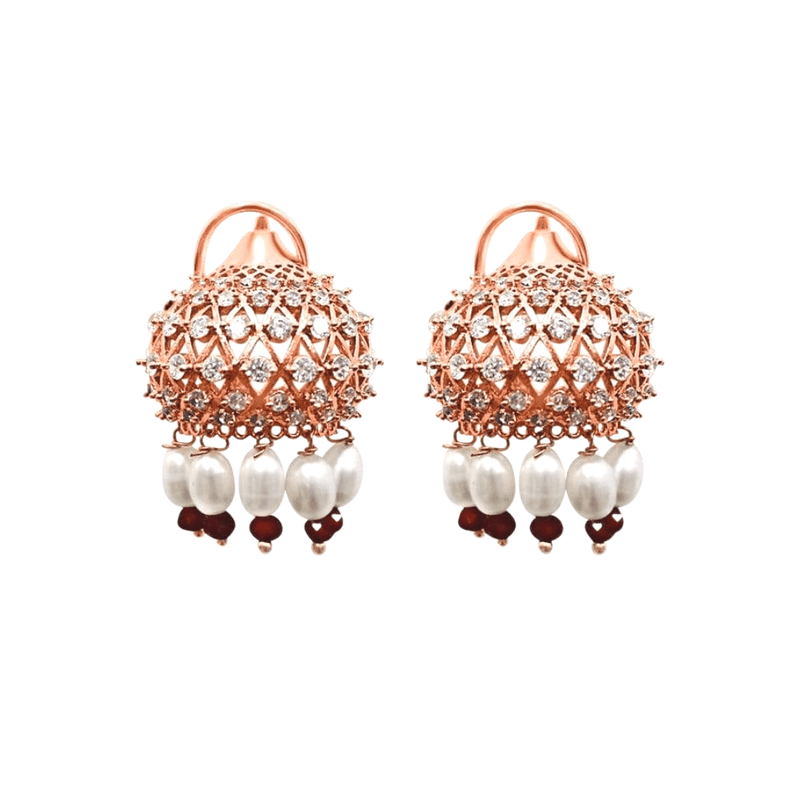 Rose Gold Dome Earrings