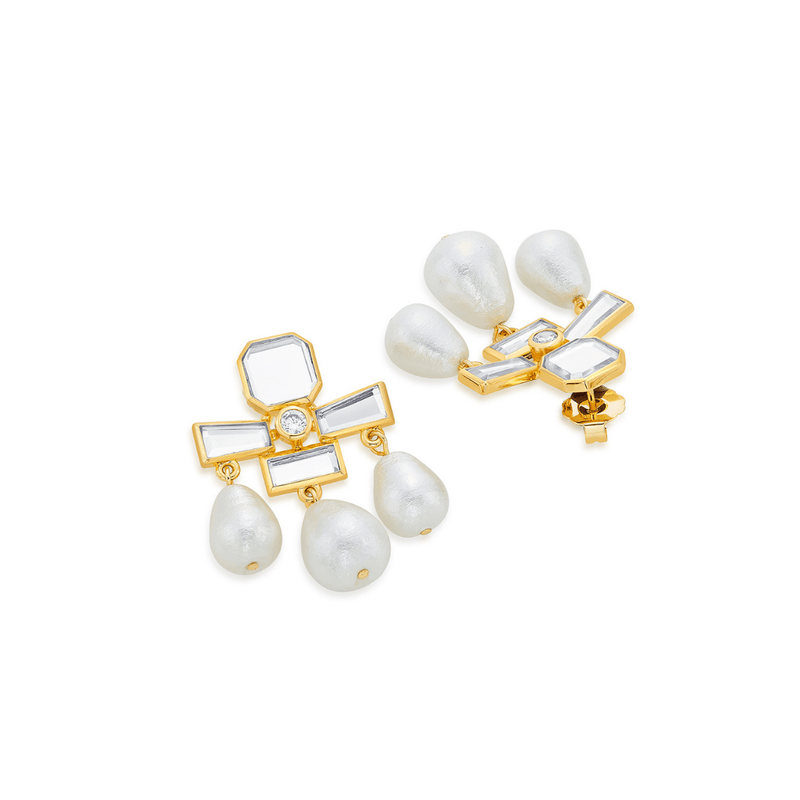 Trio Pearl Drop Earrings