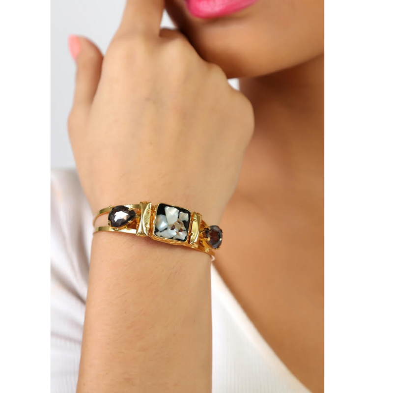 Black Mother of Pearl Cuff