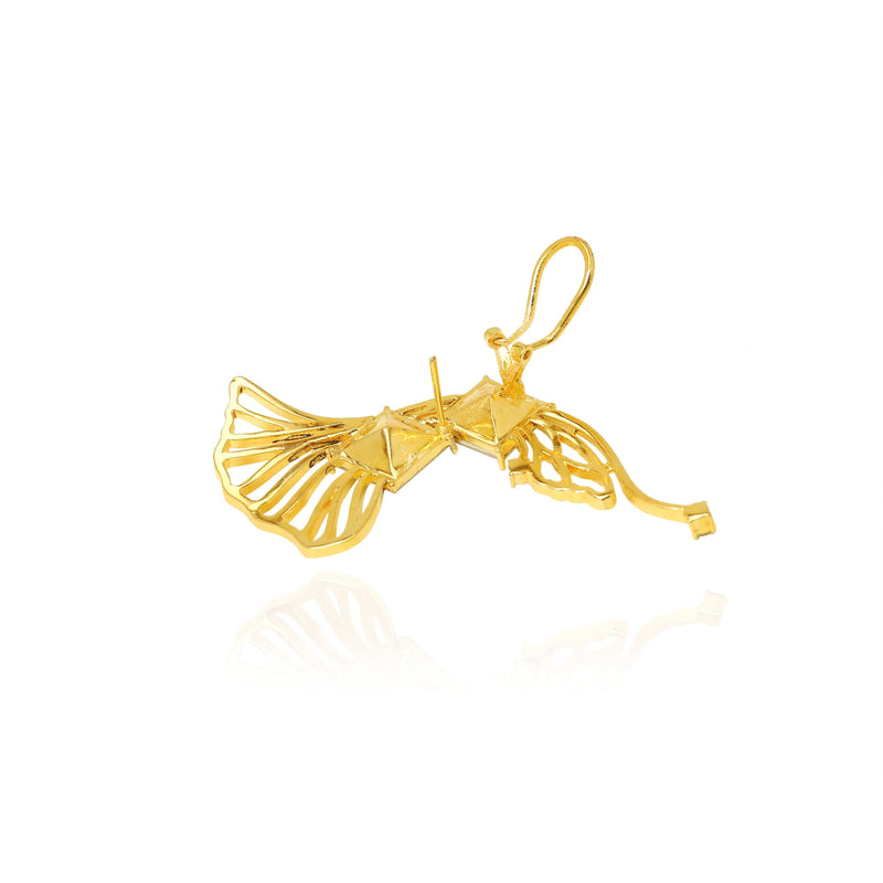 Statement Earcuff gold- The Jewel Jar
