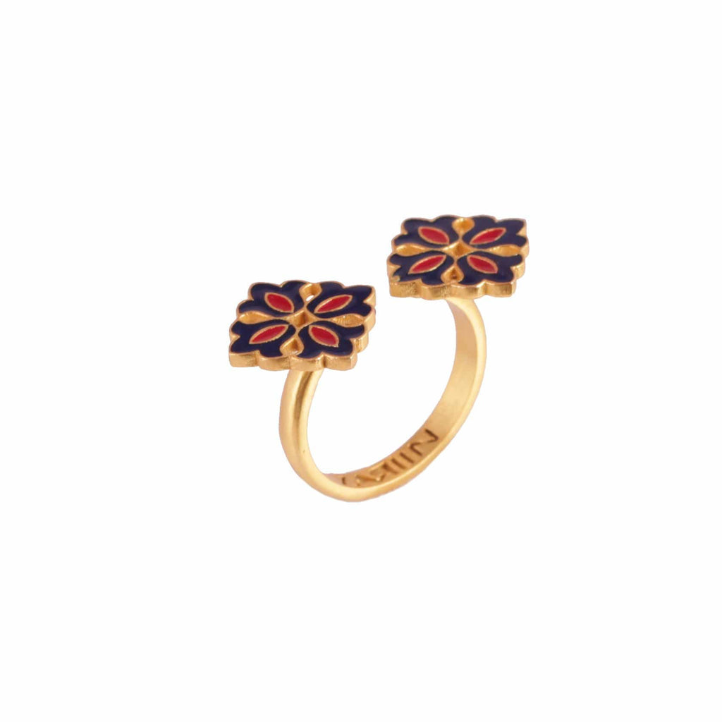 Small Floral Adjustable Ring