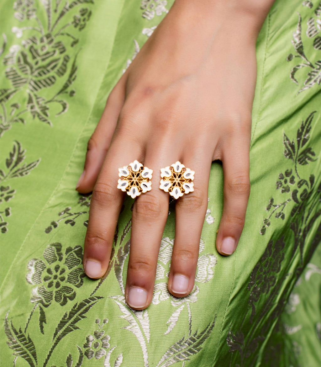 Boho Floral Adjustable Ring