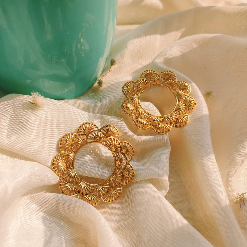 Orchid Hoop Earrings