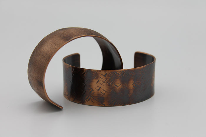 "1/4"" Nile River Copper Cuff - (Oxidized)"