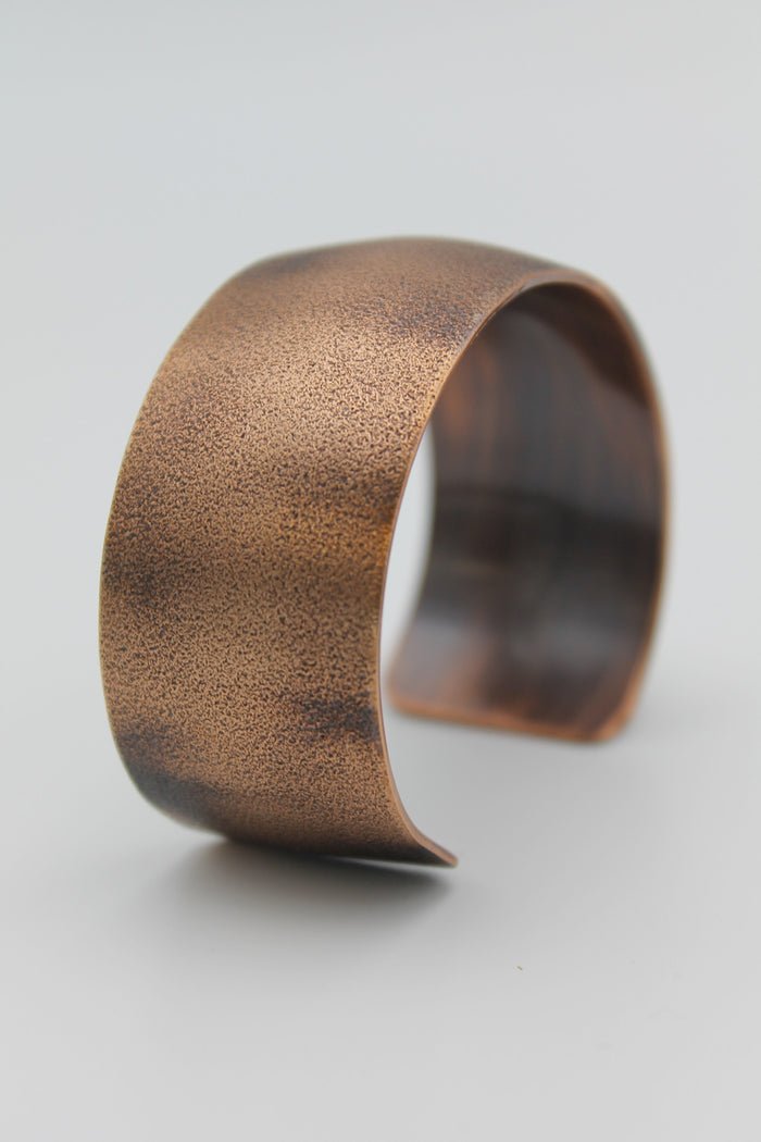 "1"" Frosted Copper Cuff - (Oxidized)"