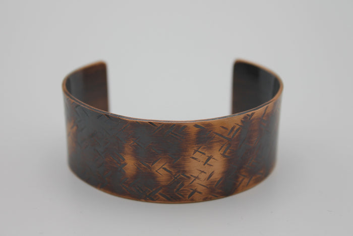 "2"" Nile River Copper Cuff - (Oxidized)"