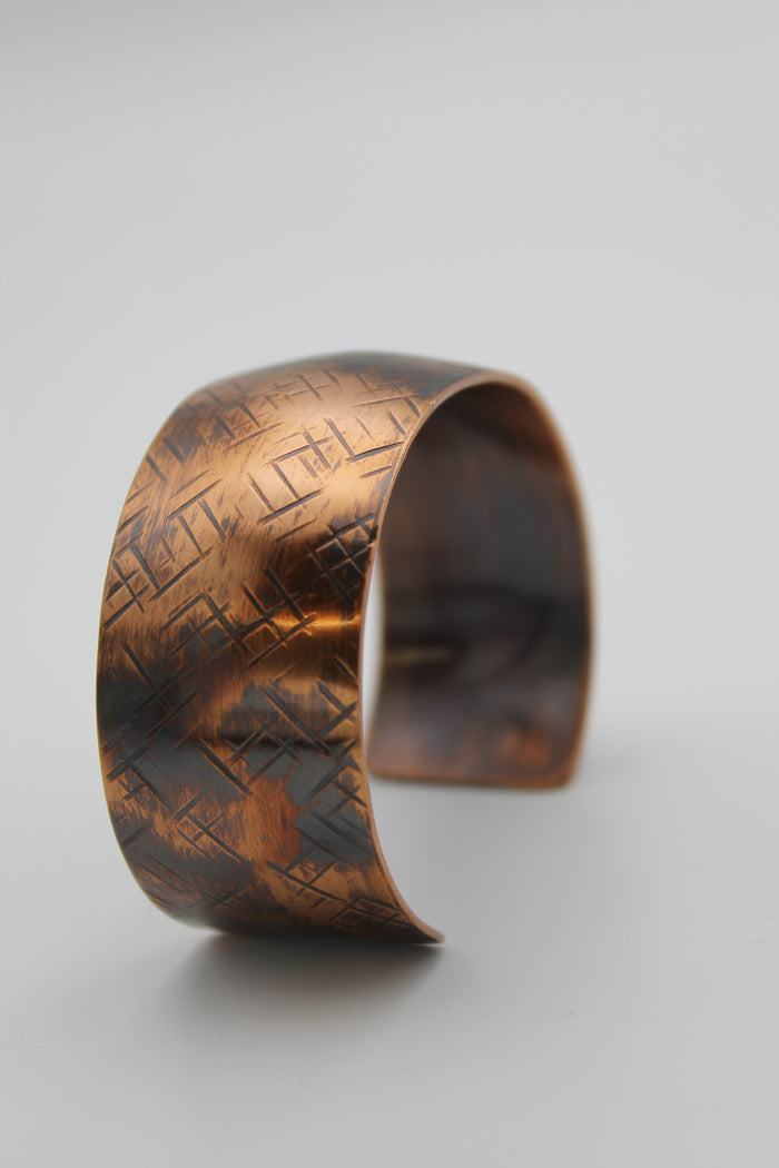 "1/2"" Nile River Copper Cuff (Oxidized)"