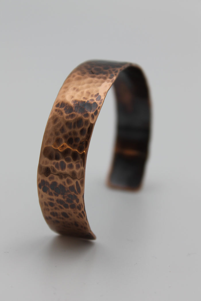 "1/2"" Egyptian Queen Copper Cuff - (Oxidized)"