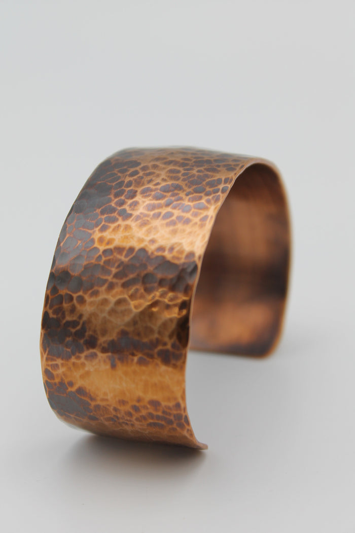 "1"" Egyptian Queen Copper Cuff - (Oxidized)"