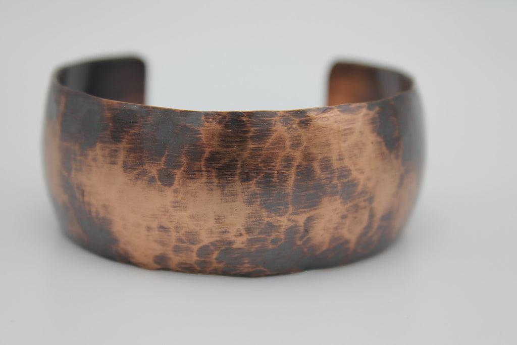 "1"" Gladiator Copper Cuff - (Oxidized)"
