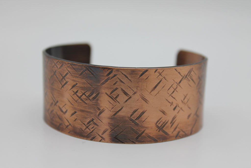 "1"" Nile River Copper Cuff - (Oxidized)"