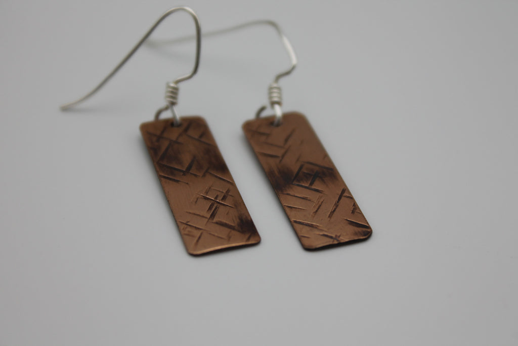 Nile River Copper Earrings (Oxidized)