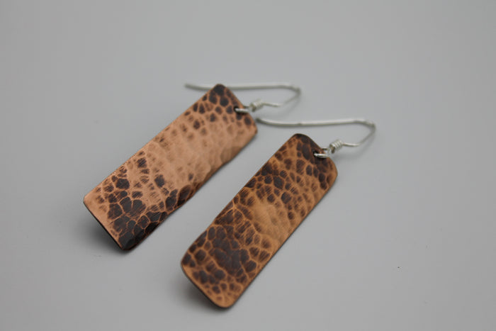 Egyptian Queen Copper Earrings (Oxidized)
