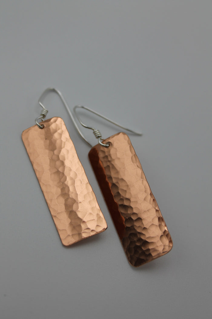 Egyptian Queen Long Copper Earrings (Shiny)