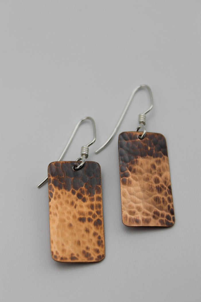 Egyption Queen Copper Earrings (Oxidized)