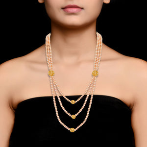 3 Layered Freshwater Pearl Necklace by HAUTE COUTURE Jewelry by Statements