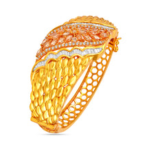 Load image into Gallery viewer, Flashy Gold Zircon Kada by BAYAAN-E-ZAMANI