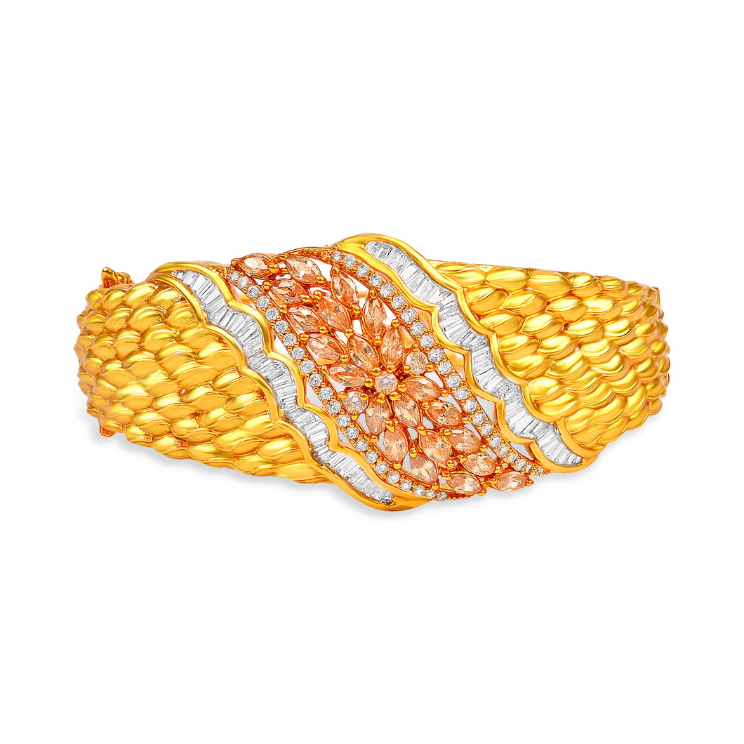 Flashy Gold Zircon Kada by BAYAAN-E-ZAMANI