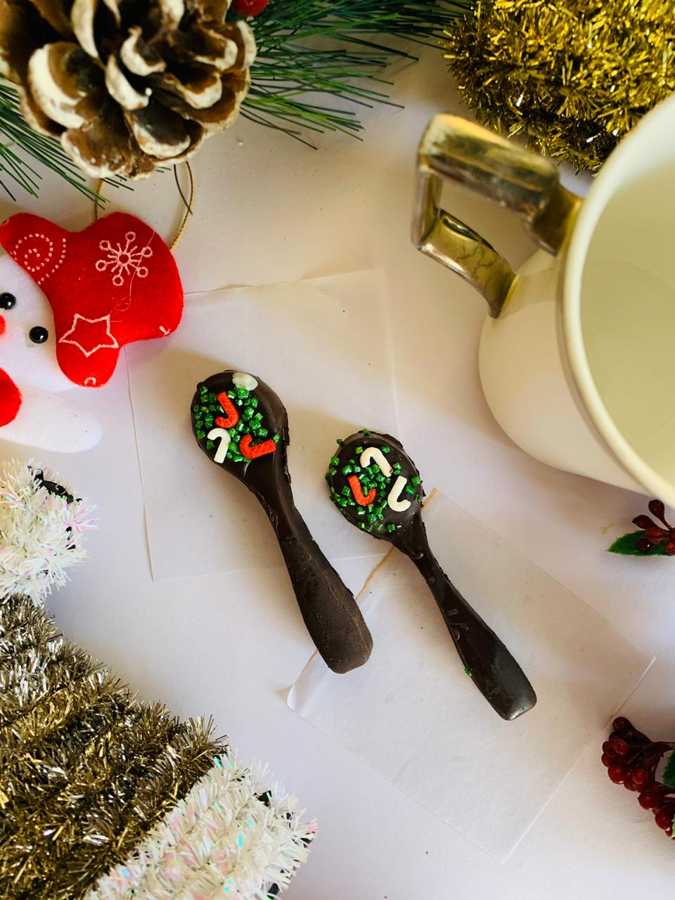 Choclate and Caramel Spoons for Coffee