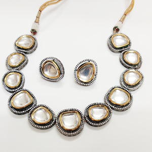 Classic Uncut Necklace Set  by BAYAAN-E-ZAMANI