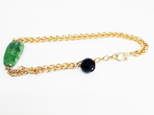 Jade Anklet by CANVAS OF NATURE