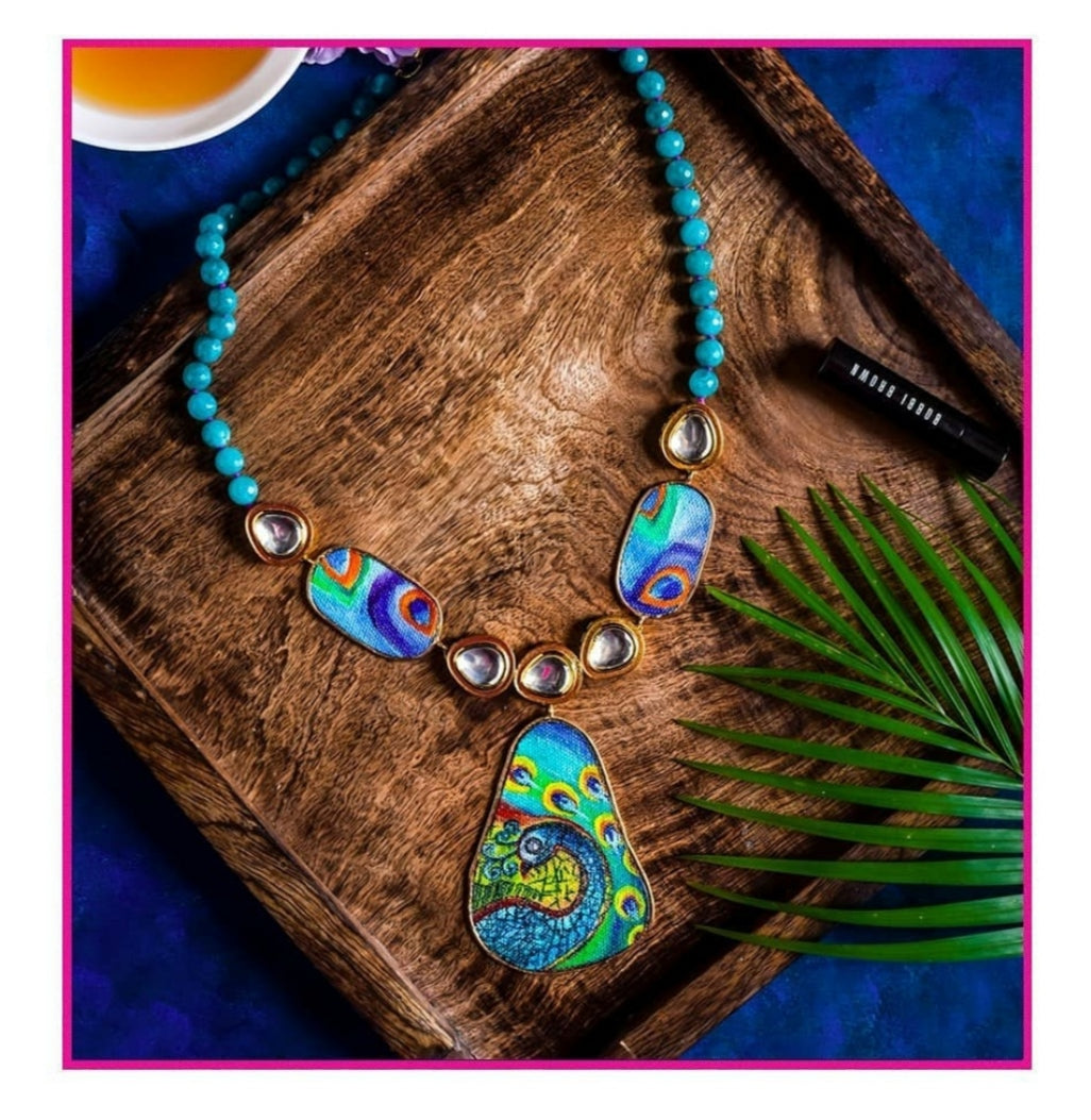 Peacock Necklace by CANVAS INFUSION