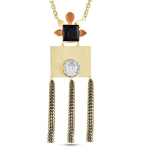AUDREY - NECKLACE BY AURIC EXPLOSION Necklace Jewelry by Statements BLACK&ORANGE