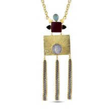 Load image into Gallery viewer, AUDREY - NECKLACE BY AURIC EXPLOSION Necklace Jewelry by Statements MAROON&BLUE