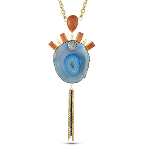 ORA - NECKLACE BY AURIC EXPLOSION Necklace Jewelry by Statements ORANGE&BLUE