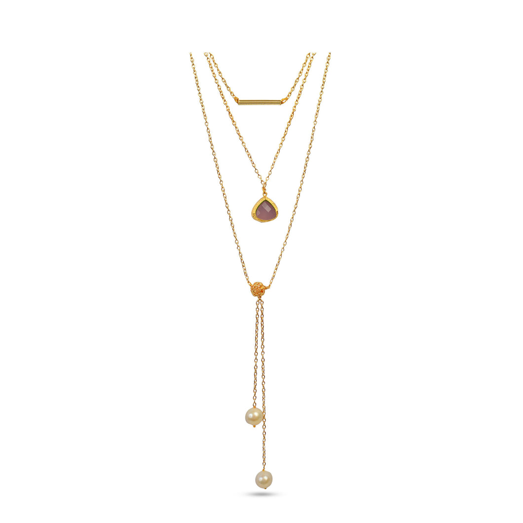 Vital Harmony by VALERIA Necklace Jewelry by Statements PINK