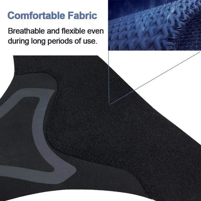 Ankle Brace is target ankle joints, arch nerves, and muscle, which allows you to move without pain from foot discomfort problems, protect your ankle avoid ankle injury.