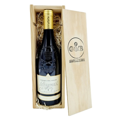 French Chateauneuf Du-Pape Wooden Gift Box